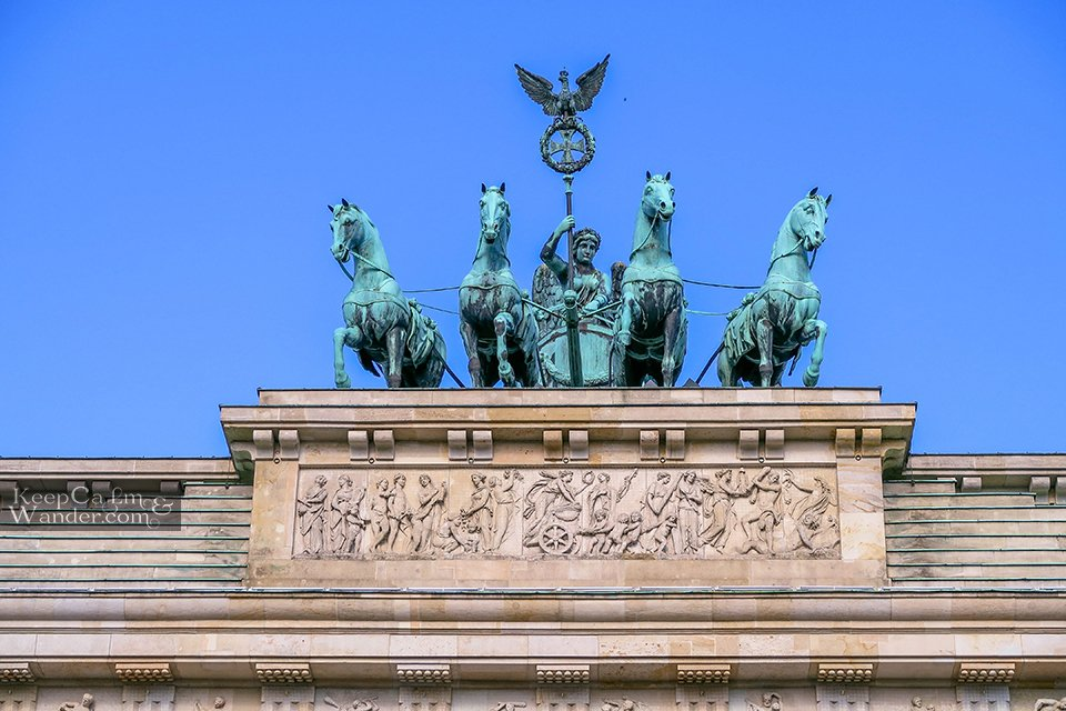 Goddess of Victory chariot Berlin hotel hostel