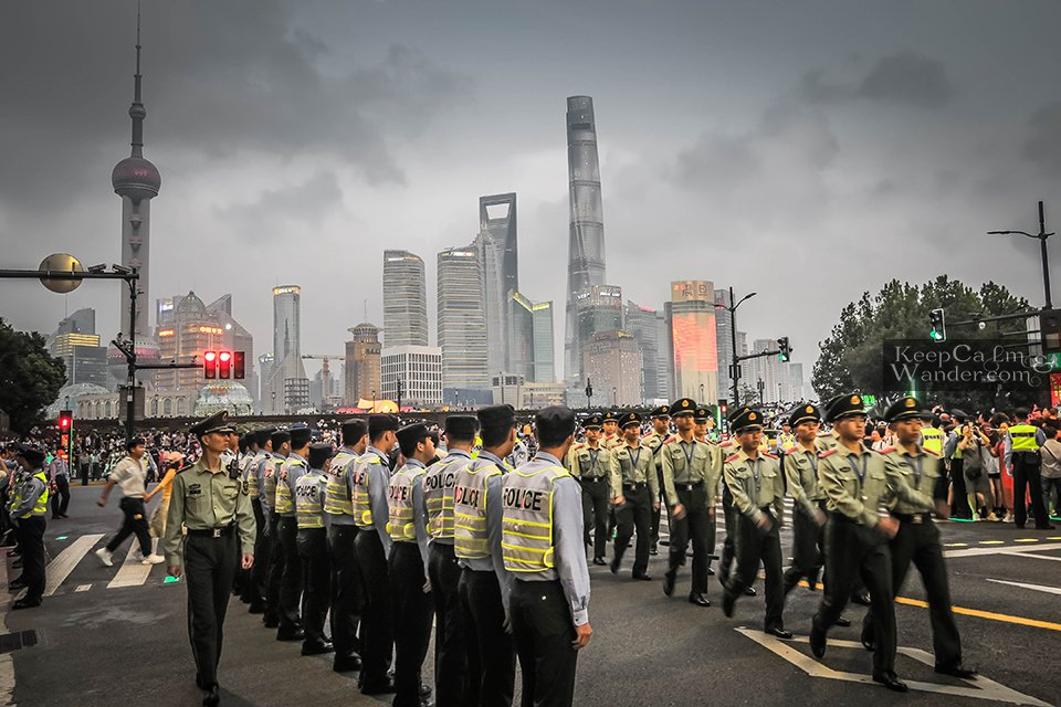 Policemen in China