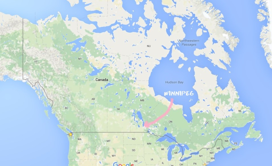 Map Manitoba