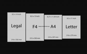 Ukuran Kertas F4 dengan Satuan Cm, Mm, Inci, dan Pixel