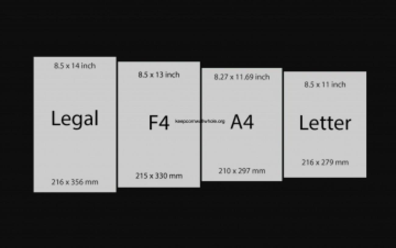 Ukuran Kertas F4 Dengan Satuan Cm Mm Inci Dan Pixel