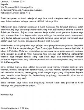 Contoh Motivation Letter Beasiswa, Magang, Masuk ...