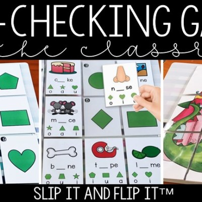 Self Checking Phonics Games: Slip It and Flip Its