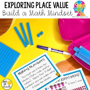 place value task cards to build a math mindset