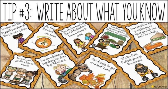 reluctant writers need to write about what they know