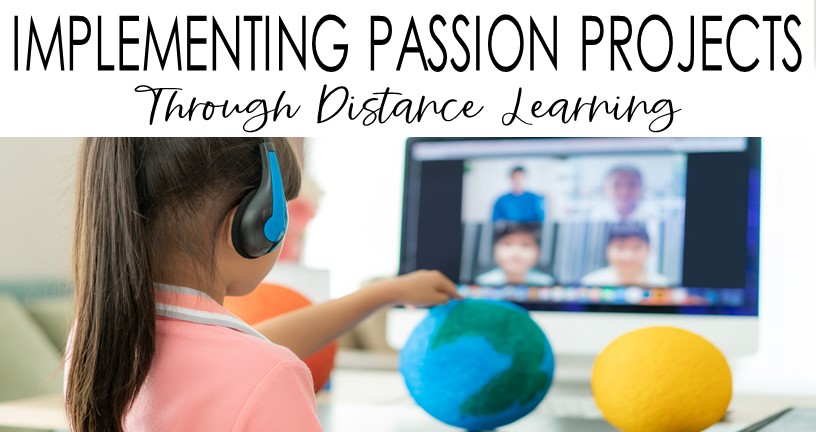 student presenting Passion Project during distance learning