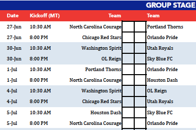 Download the NWSL Challenge Cup first-round schedule — UPDATED