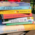 Multiple author books in a pile