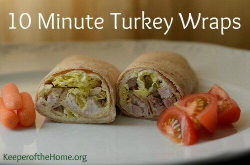 10-Minute Lunches: Turkey Wraps 1