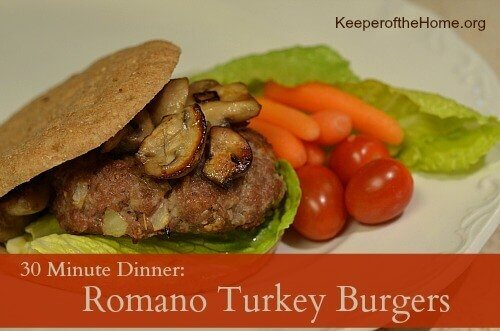 These 30 Minute Dinner Romano Turkey Burgers are a hit with everyone! Plus they're quick and easy to make, perfect for those evenings when time is short and you didn't have plans!