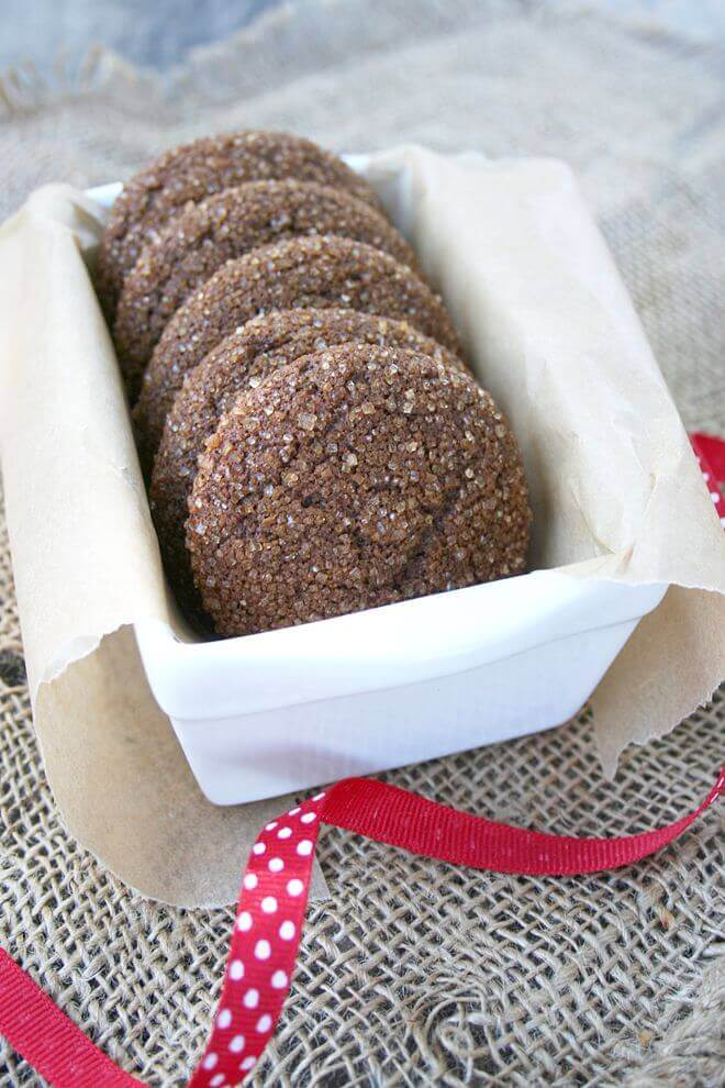 Naturally Sweetened Chewy Molasses Cookies