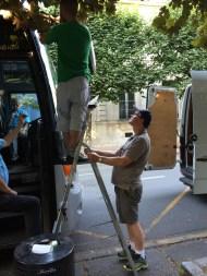 The mechanic arrives! Image courtesy: I. Demase, 2014.