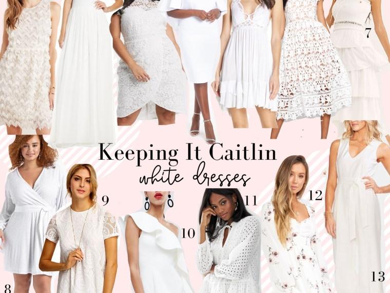 white dresses under $200