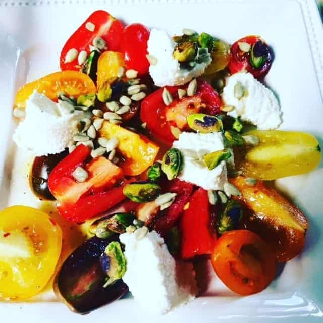 Tomato and Pistachio Salad