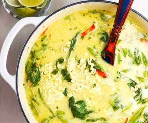Thai Coconut Curry Vegetable Soup