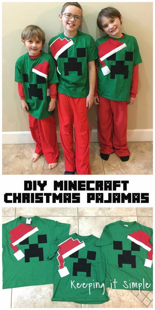 Diy Christmas Pajamas : christmas, pajamas, Minecraft, Christmas, Pajamas, Keeping, Simple