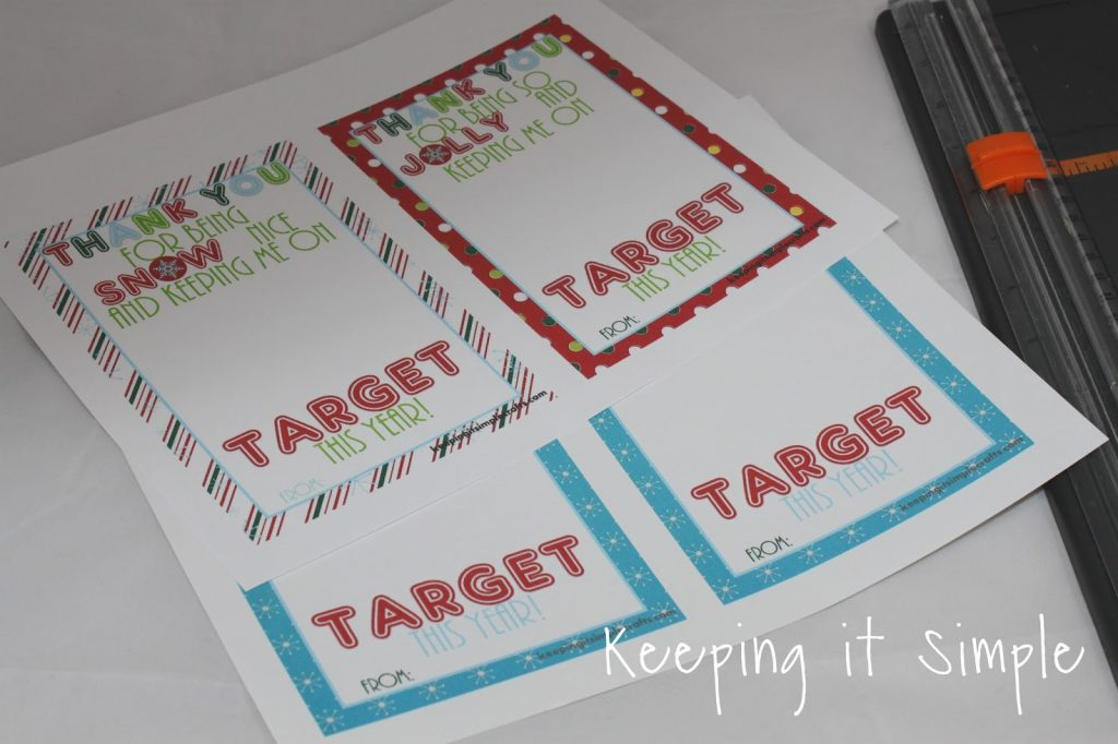 Teacher Christmas Gift Idea- Printable for Target Gift Card • Keeping it Simple Crafts