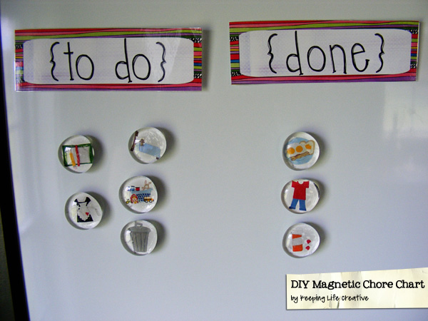 Diy Chore Chart Magnets Diy Magnetic Chore Chart Keeping