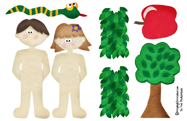 {FREE} Adam and Eve interactive storytelling printables