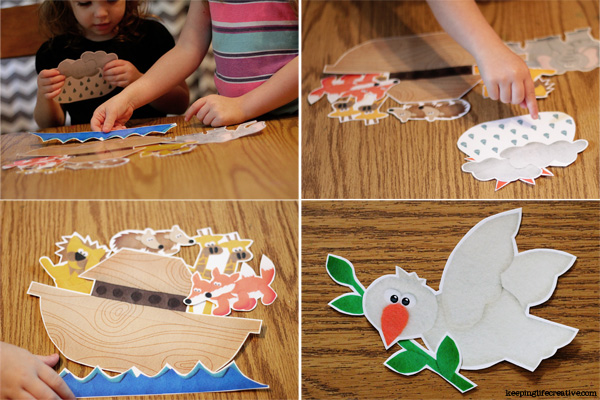 FREE Noah's Ark story printables by Keeping Life Creative