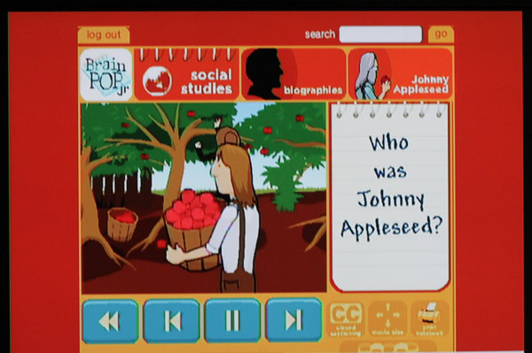 Brain Pop about Johnny Appleseed
