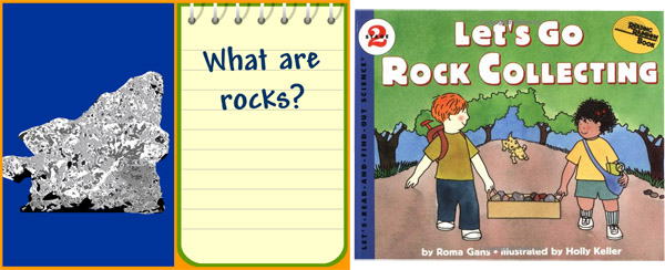 BrainPop video and Lets Go Rock Collecting book