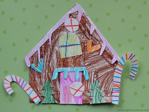 Gingerbread House Printable Craft Template