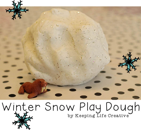 Winter Snow Play Dough