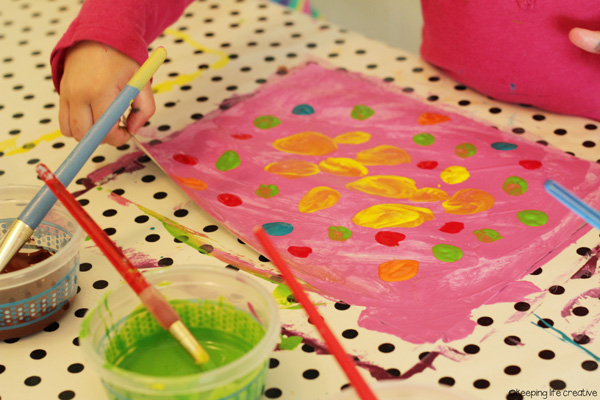 how to make painted papers