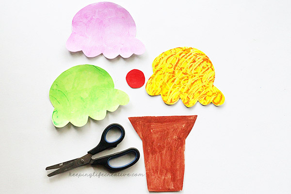 Should i share my ice cream book and craft keeping life creative cut ice cream cone craft template pieces pronofoot35fo Choice Image