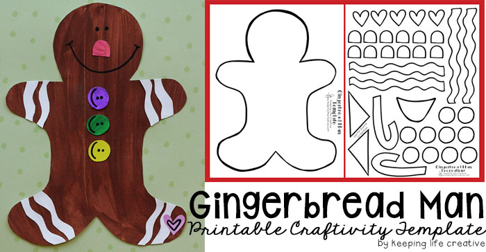 photograph relating to Gingerbread Man Patterns Printable named Printable Gingerbread Guy Craft - Holding Daily life Inventive