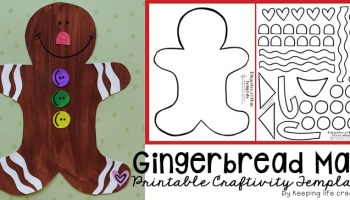 Printable gingerbread house craft keeping life creative printable gingerbread man craft pronofoot35fo Image collections
