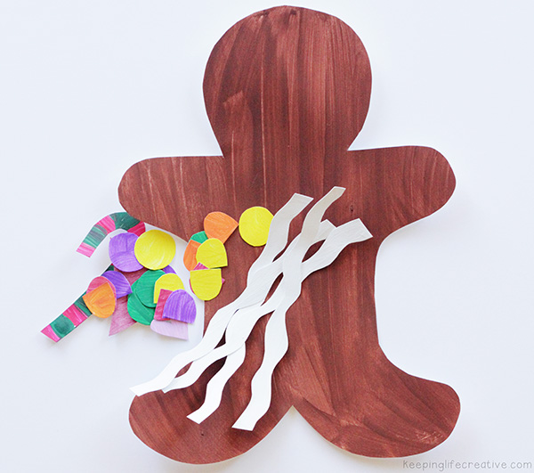 gingerbread man cut