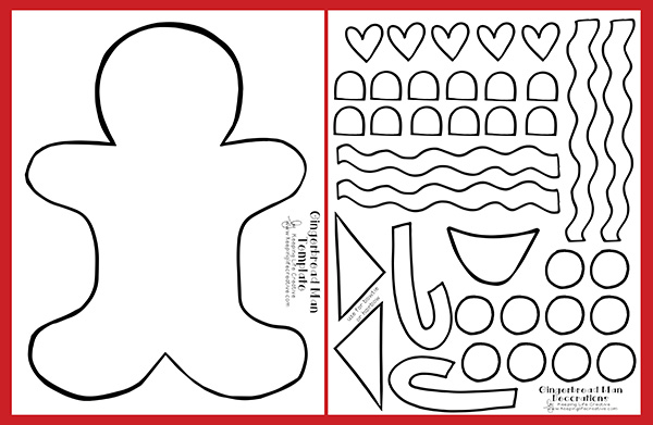 Printable Gingerbread Man Craft Keeping Life Creative Template