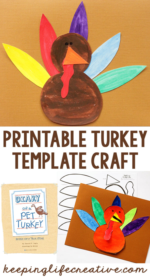 Turkey Template Pin  Diary Paper Template