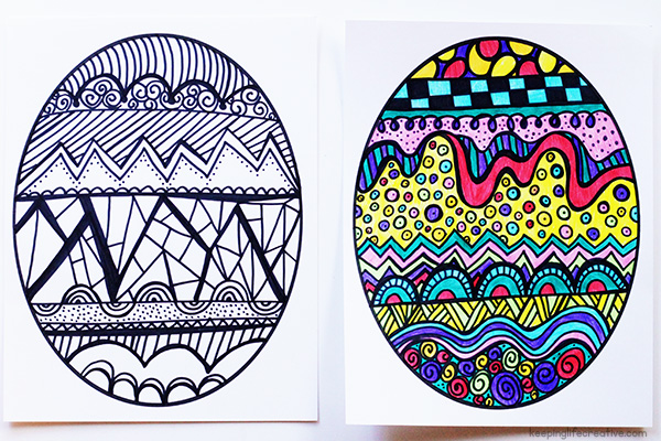 Easter Egg Line Art