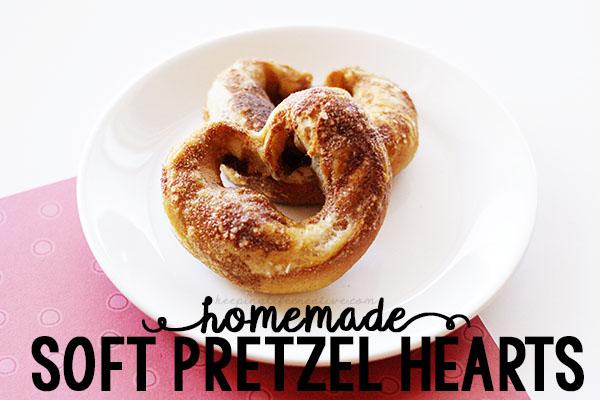 Homemade Soft Pretzel Hearts