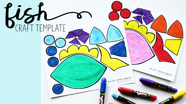 Create-a-Fish Craft Printable Template