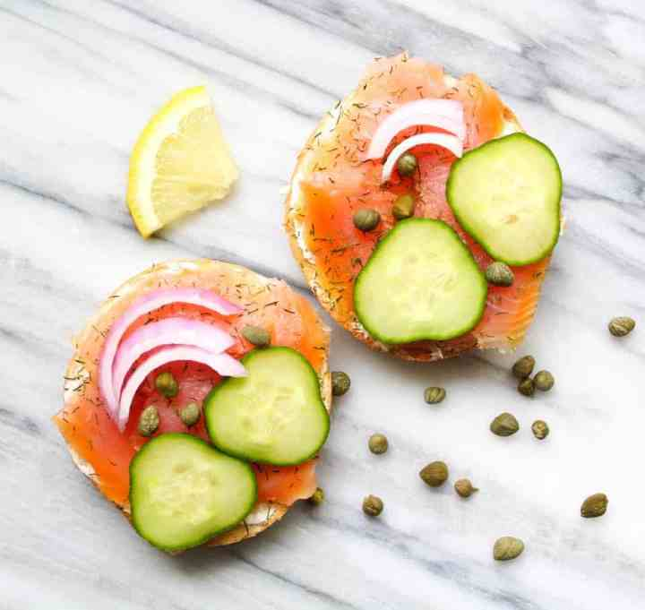 Weight Watchers Smoked Salmon Bagel 3
