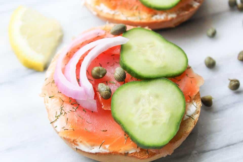 Weight Watchers Smoked Salmon Bagel