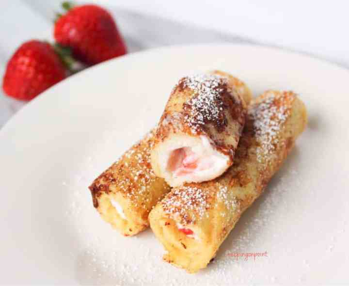 Strawberries and Cream Cheese French Toast Roll Ups Weight Watchers Freestyle 3
