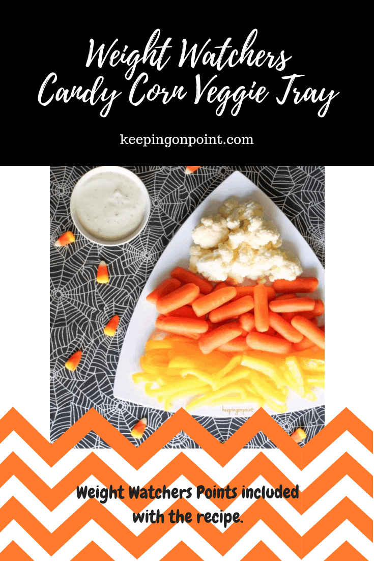 Weight Watchers Candy Corn Veggie Tray