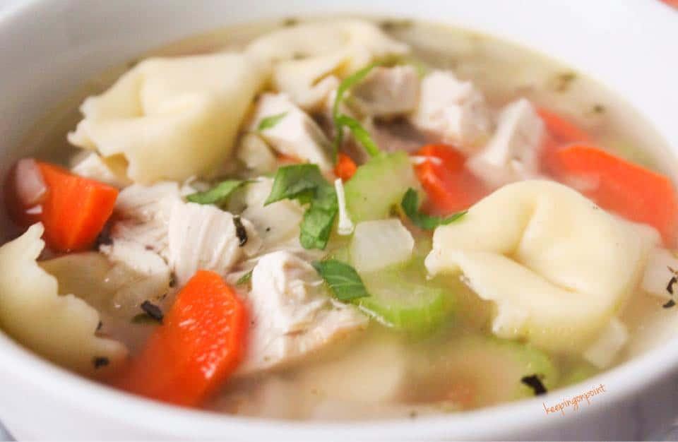30 minute chicken cheese tortellin soup weight watchers freestyle