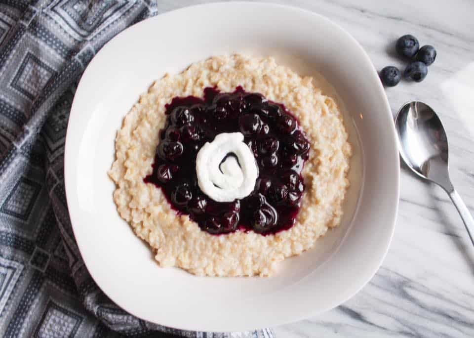 Weight Watchers Freestyle Blueberry Pie Oatmeal 4
