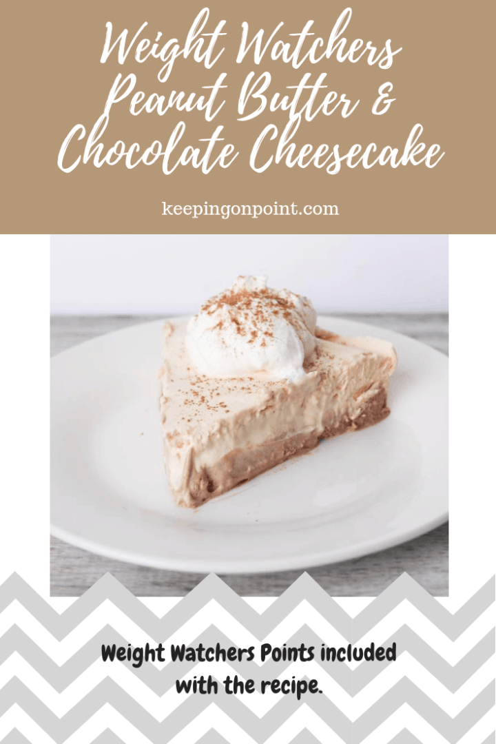 Weight Watchers Freestyle Peanut Butter & Chocolate Cheesecake