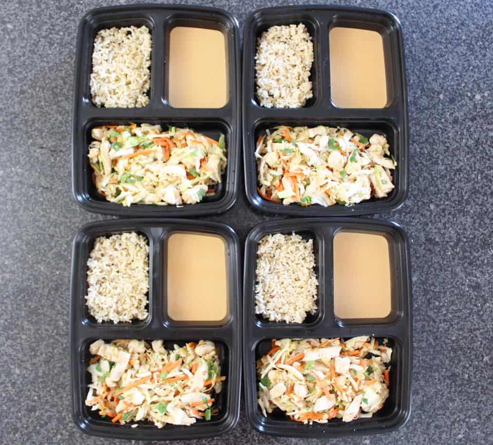 Thai Chicken with Peanut Sauce - Meal Prep