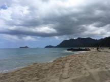 The beach is nice even on cloudy days