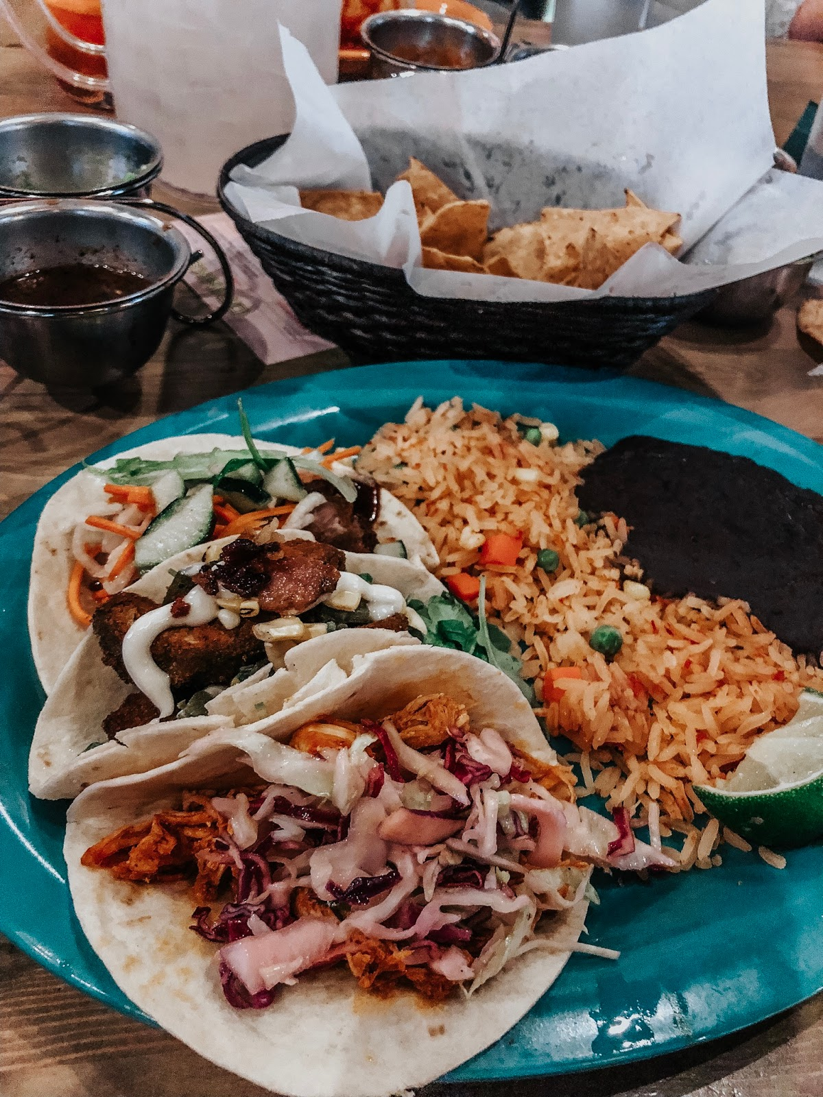 Tacos with friends at BelAir Cantina in Madison, Wisconsin