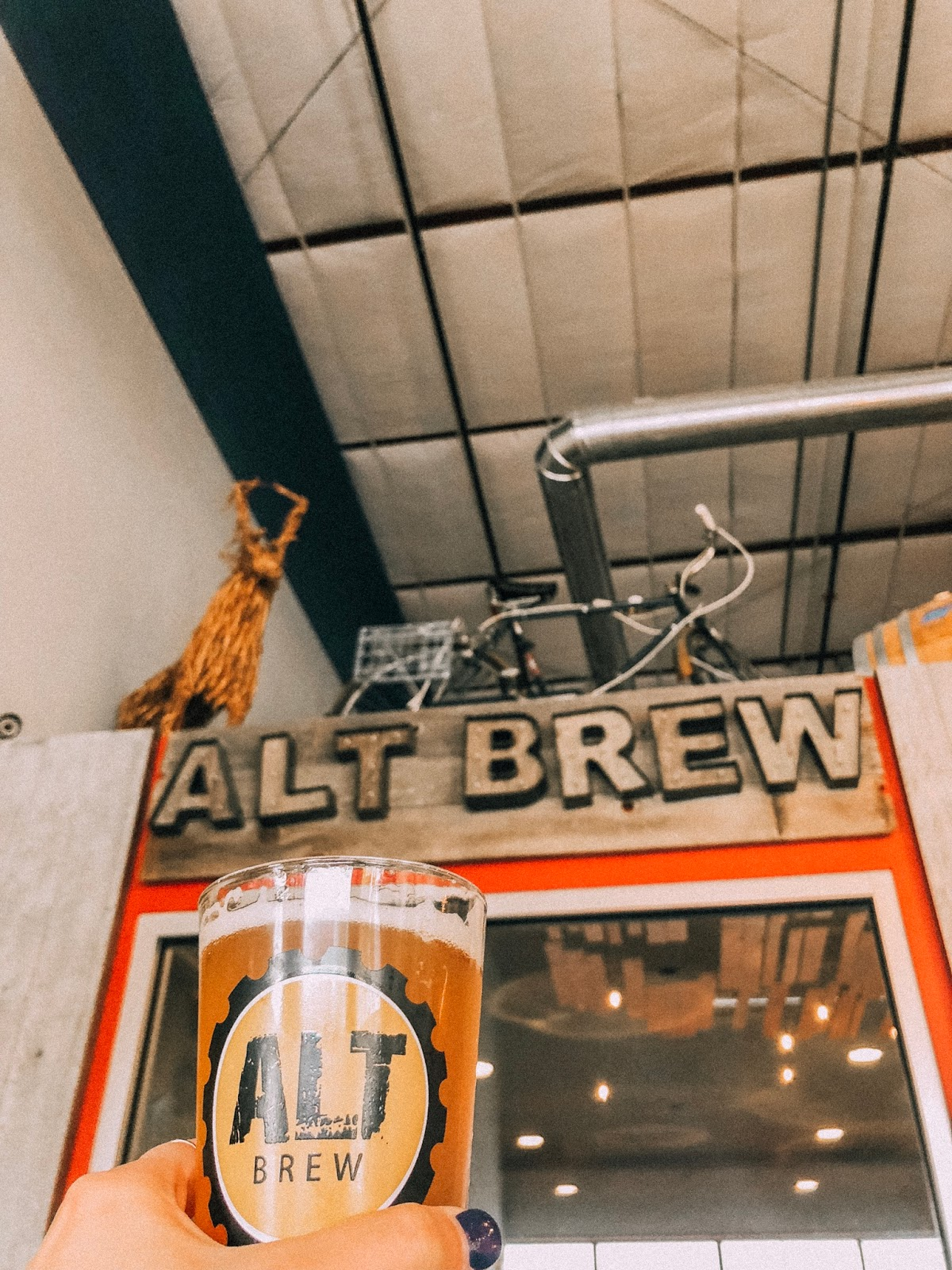 Beers at ALT Brew in Madison, Wisconsin