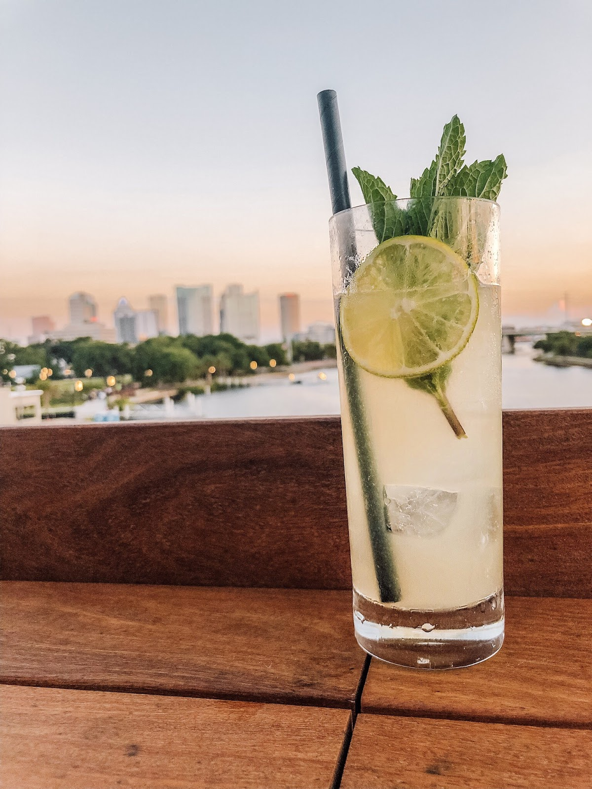 The refreshing Daisy De Santiago drink at M.Bird, the new rooftop bar on top of Armature Works in Tampa, Florida